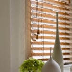 oak wooden venetian window blind
