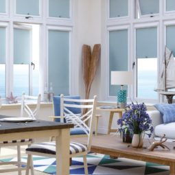 sea blue conservatory roller window blinds