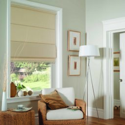 papyrus colour roman window blinds