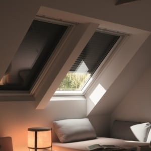 slate grey velux window blinds